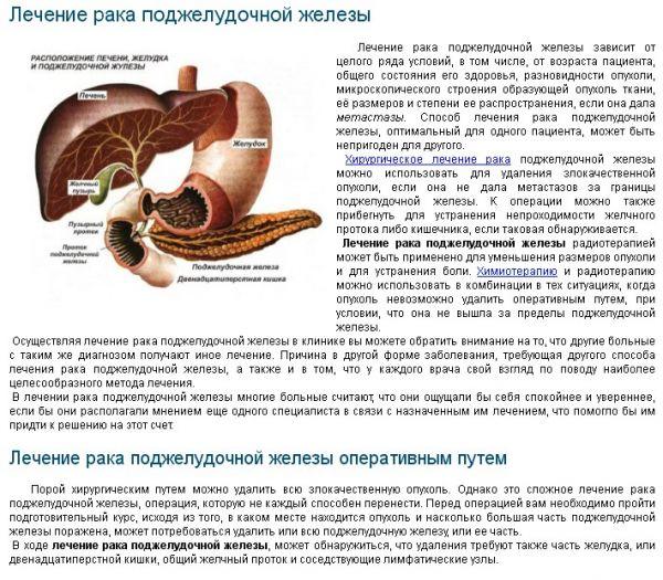 Рак поджелудочной как лечить народные средства